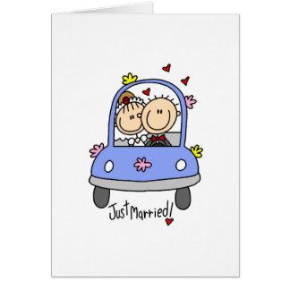 Gerade verheiratete Karte
