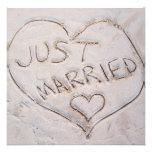 Gerade verheiratete Mitteilung