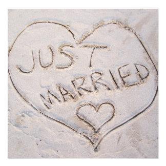 Gerade verheiratete Mitteilung Einladungskarte