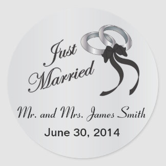 Gerade verheiratete | personifizieren runder aufkleber