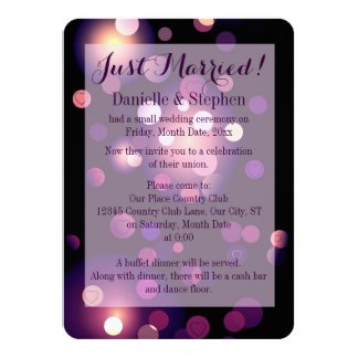 Gerade verheiratete Stellen und Herzen 11,4 X 15,9 Cm Einladungskarte