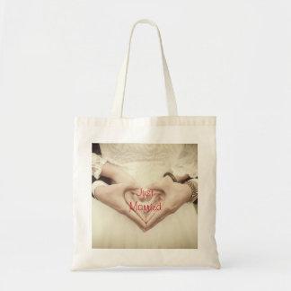 Gerade verheiratete Taschen-Tasche Tragetasche