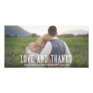 Gerade verheiratete Wedding | danken Ihnen Photokartenvorlagen