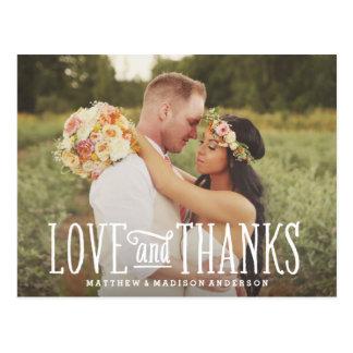 Gerade verheiratete Wedding | danken Ihnen Postkarte