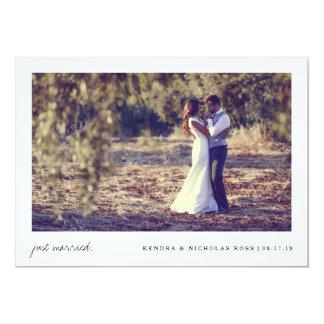 Gerade verheiratete   Wedding Mitteilung 12,7 X 17,8 Cm Einladungskarte
