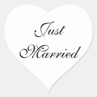 Gerade verheirateter Aufkleber