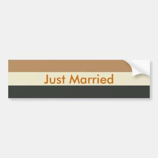 Gerade verheirateter autoaufkleber