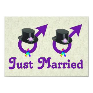 Gerade verheirateter formaler homosexueller Mann 12,7 X 17,8 Cm Einladungskarte