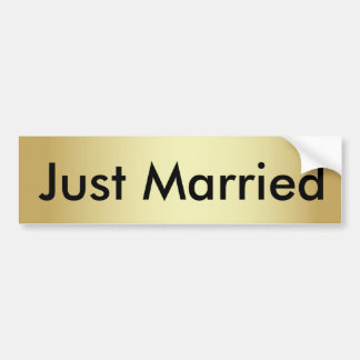 Gerade verheirateter GoldAutoaufkleber mit Autoaufkleber