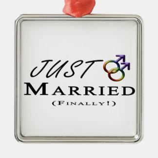 Gerade verheirateter (schließlich) Gay Pride Silbernes Ornament