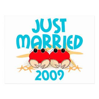 Gerade verheiratetes 2009 postkarte