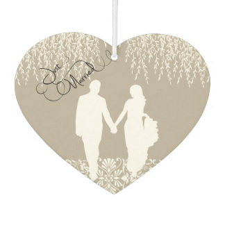 Gerade verheiratetes Braut-und Lufterfrischer