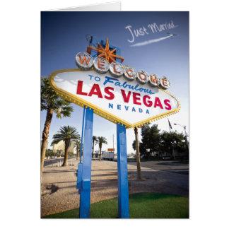 Gerade verheiratetes Las Vegas Karte