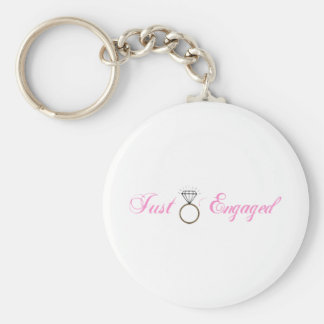 Gerade verlobt (Diamant-Verlobungs-Ring) Schlüsselanhänger