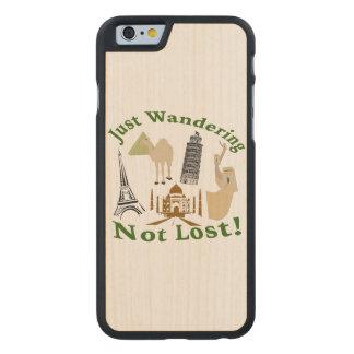 Gerade wandernd nicht verlorener Entwurf Carved® iPhone 6 Hülle Ahorn