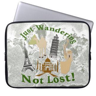 Gerade wandernd nicht verlorener Entwurf Laptopschutzhülle