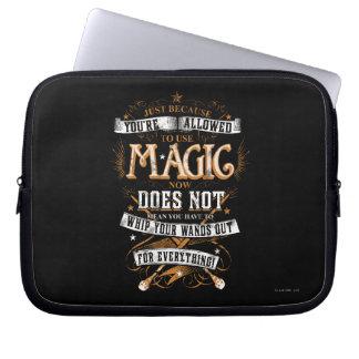 Gerade weil Ihnen erlaubt werden, Magie zu Laptop Computer Schutzhülle