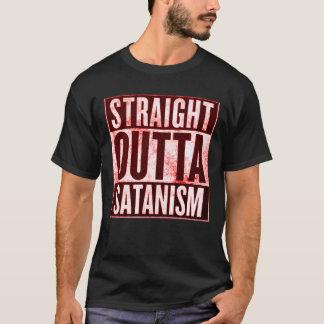 Gerader Outta Satanism-geheimnisvolles grafisches T-Shirt