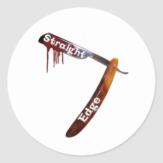 Gerader Rand-gerades Rasiermesser Runder Aufkleber