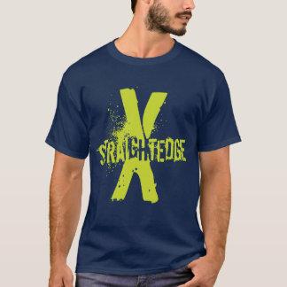 Gerades Grün des Randes X T-Shirt