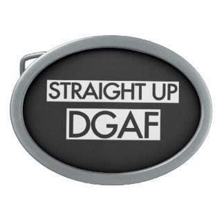 Gerades hohes DGAF Ovale Gürtelschnalle