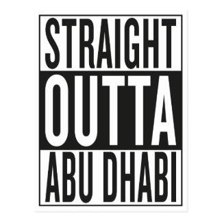 gerades outta Abu Dhabi Postkarte
