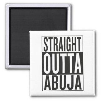 gerades outta Abuja Quadratischer Magnet