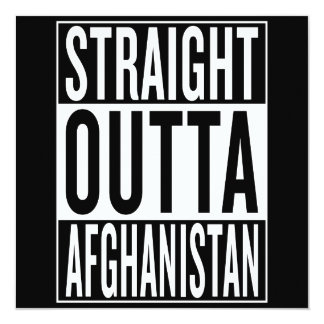 gerades outta Afghanistan Karte