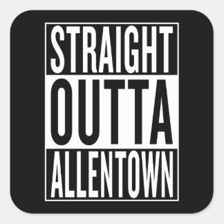 gerades outta Allentown Quadratischer Aufkleber