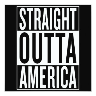 gerades outta Amerika Karte
