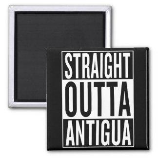 gerades outta Antigua Quadratischer Magnet
