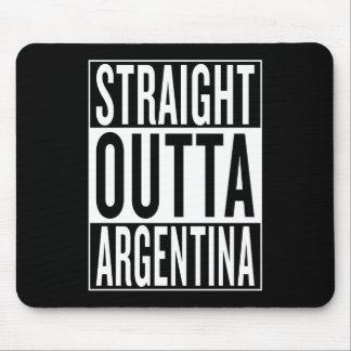gerades outta Argentinien Mauspads