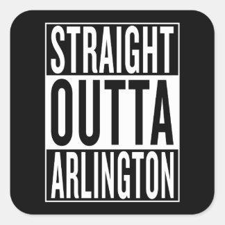gerades outta Arlington Quadratischer Aufkleber
