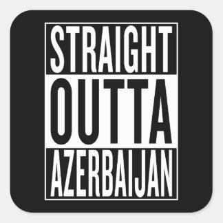 gerades outta Aserbaidschan Quadratischer Aufkleber
