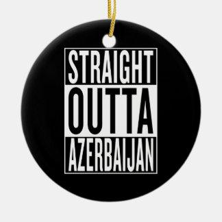 gerades outta Aserbaidschan Rundes Keramik Ornament
