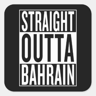 gerades outta Bahrain Quadratischer Aufkleber