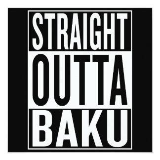 gerades outta Baku Karte