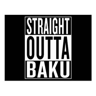 gerades outta Baku Postkarte