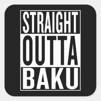 gerades outta Baku Quadratischer Aufkleber