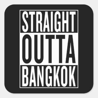 gerades outta Bangkok Quadratischer Aufkleber
