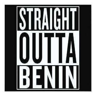 gerades outta Benin Karte