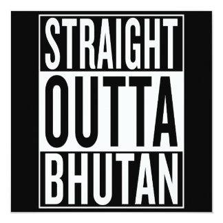 gerades outta Bhutan Karte