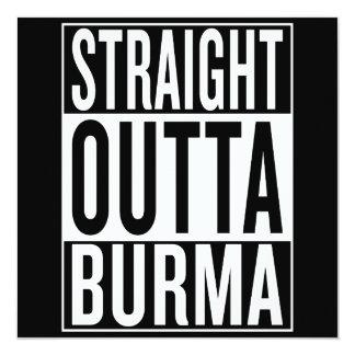 gerades outta Birma Karte