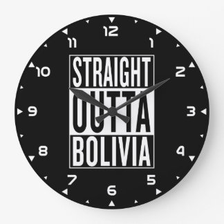 gerades outta Bolivien Große Wanduhr