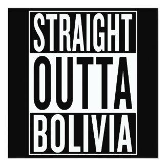 gerades outta Bolivien Karte
