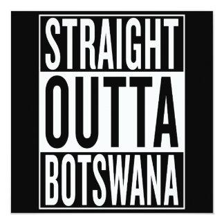 gerades outta Botswana Karte