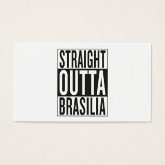 gerades outta Brasilien Visitenkarte