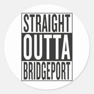 gerades outta Bridgeport Runder Aufkleber