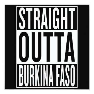 gerades outta Burkina Faso Karte