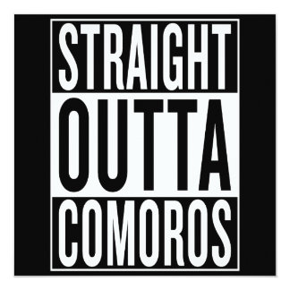 gerades outta Comoren Karte